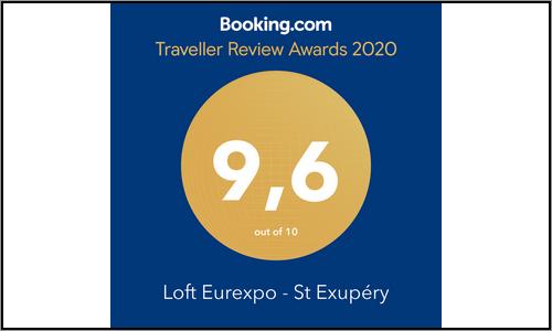 Le Loft de Genas obtient 9.6 au classement Booking 2020